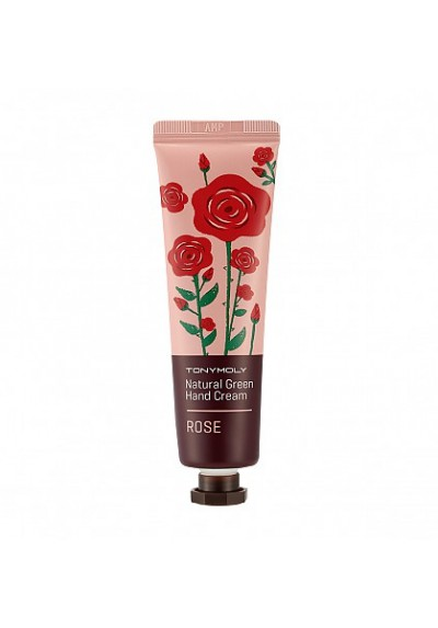 NATURAL GREEN HAND CREAM ROSE
