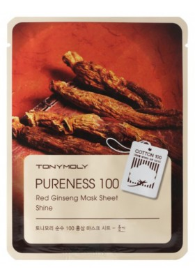 Pureness 100 Red Ginseng Mask Sheet - Luminosidad