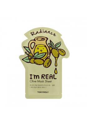 I AM REAL OLIVE MASK SHEET - RADIANCE