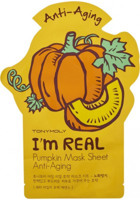 I AM REAL PUMPKIN MASK SHEET - ANTIAGING
