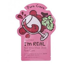 I AM REAL RED WINE MASK SHEET- PORE CARE