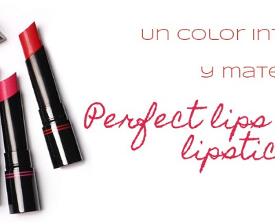 Perfect Lips Curving Lipstick, un color mate y de larga duración