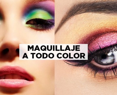 ¡Maquillaje a todo color!